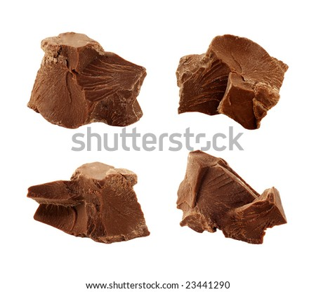 Chocolate Chunks isolated on a white background
