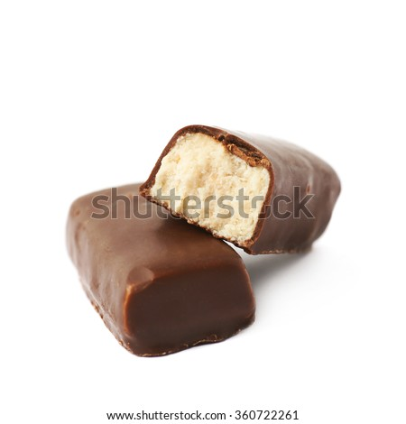 Chocolate coated marzipan candy