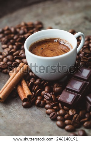 Chocolate Coffee - stock photo