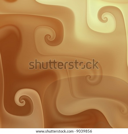 Chocolate coffee cream swirls - stock photo