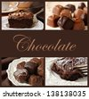 Chocolate collage - stock photo