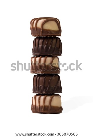 Chocolate collection. Isolated on white background