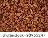 chocolate cornflakes background - stock photo