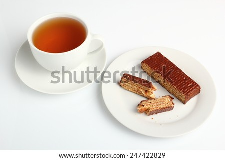 Chocolate Covered Wafer - stock photo