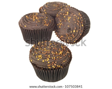Chocolate Cupcakes - stock photo