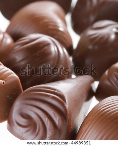 chocolate dessert - stock photo