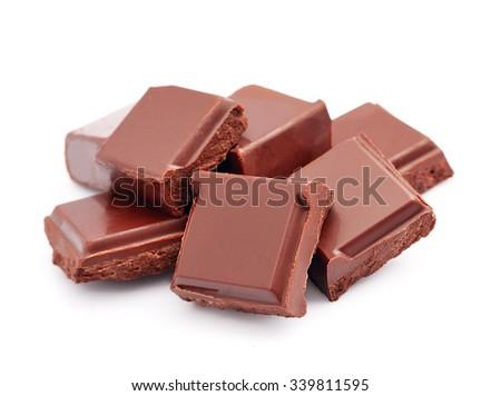 Chocolate dessert closeup. Chocolate bar. - stock photo