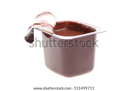 chocolate dessert isolated on white - stock photo