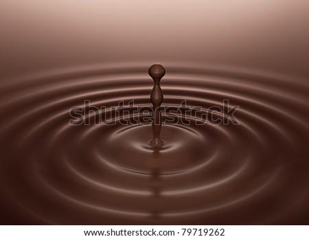 chocolate drop - stock photo