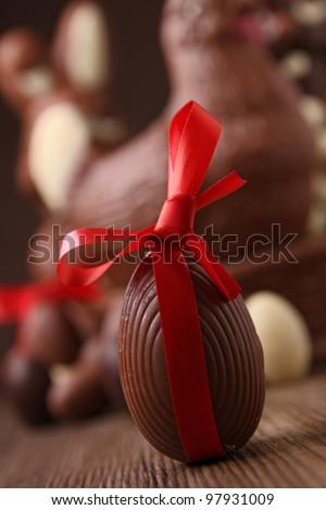 chocolate easter - stock photo