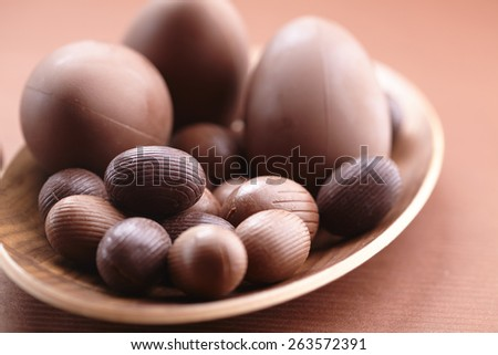 Chocolate Easter eggs - stock photo