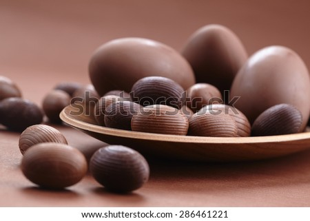 Chocolate Easter eggs - stock photo