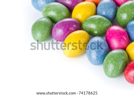 chocolate easter eggs isolated on white - stock photo