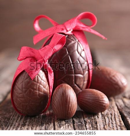 chocolate egg - stock photo