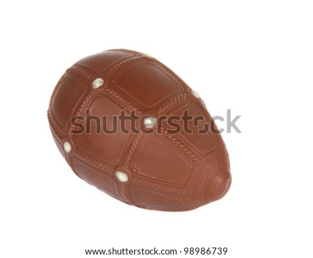 chocolate egg  on a white background