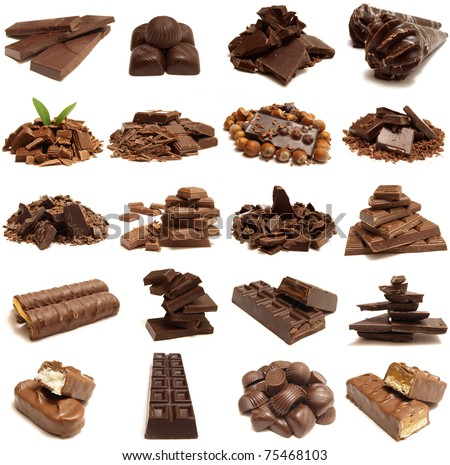 Chocolate for all tastes - stock photo