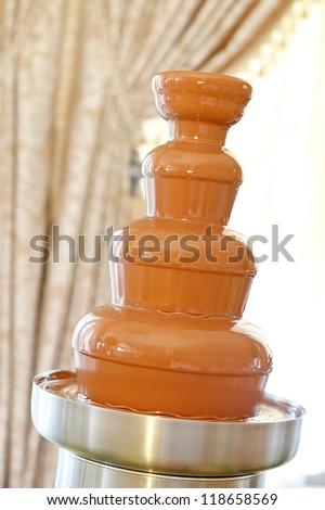 chocolate fountain - stock photo