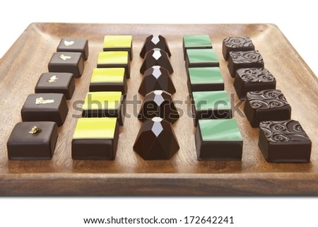 Chocolate Group - stock photo