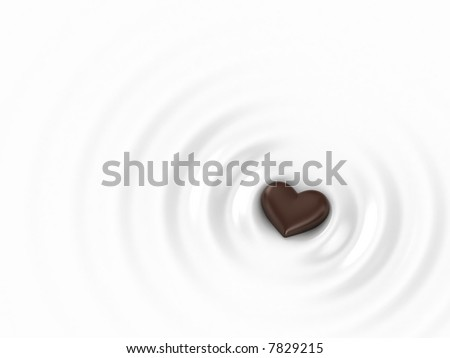 Chocolate Heart - stock photo