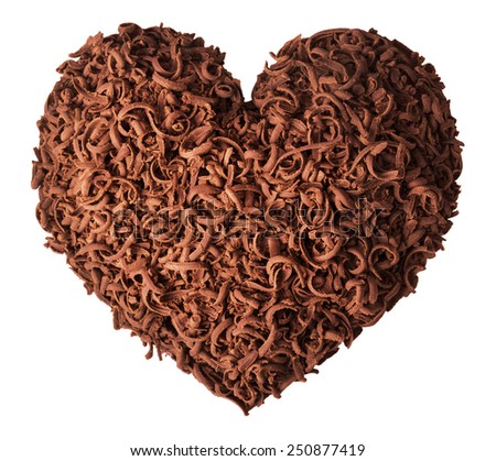 Chocolate heart for Valentine's Day - stock photo