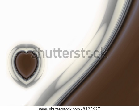 Chocolate Heart On Chocolate Wave