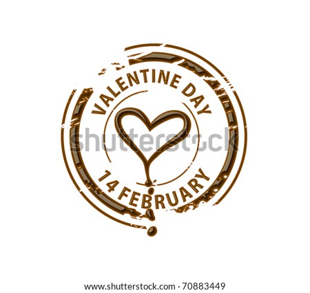 Chocolate heart symbol for valentine design element. - stock photo