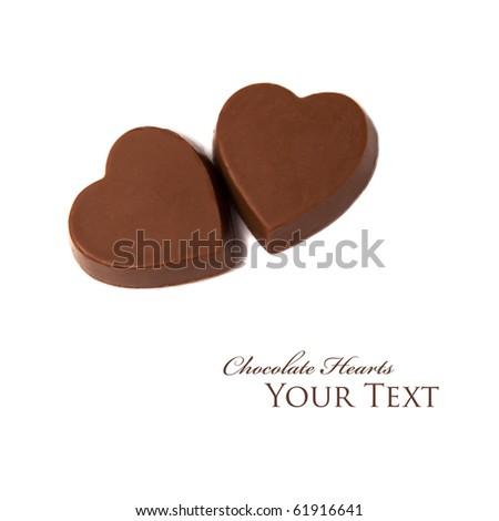 Chocolate Hearts - stock photo