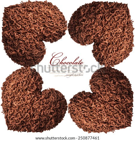 Chocolate hearts for Valentine's Day - stock photo