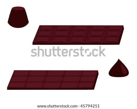 Chocolate isolated - jpg version - stock photo