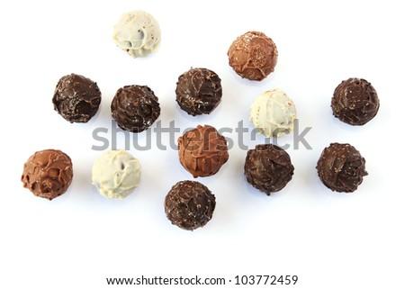 Chocolate isolated on white background. - stock photo