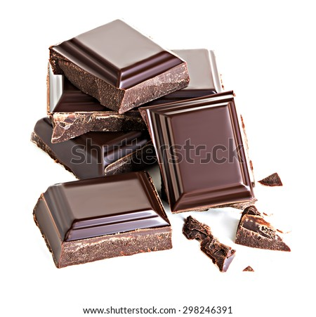 Chocolate isolated on white background - stock photo