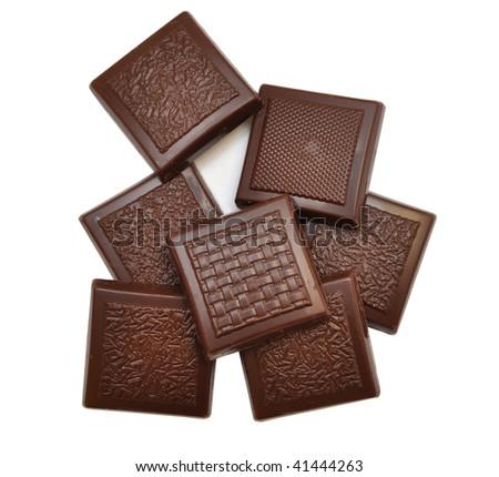chocolate isolated on white background - stock photo