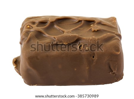 Chocolate isolated on white background and clipping path - stock photo