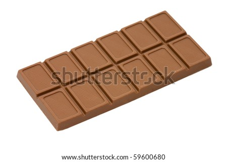 Chocolate isolated over white background