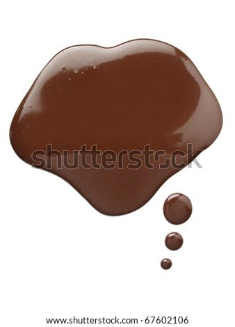 Chocolate Label - stock photo