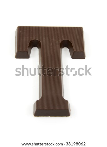 Chocolate letter T for Sinterklaas, event in the Dutch in december - stock photo