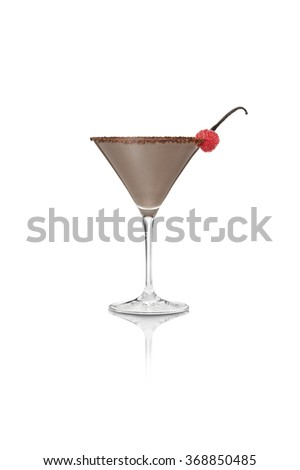 chocolate martini isolated on white