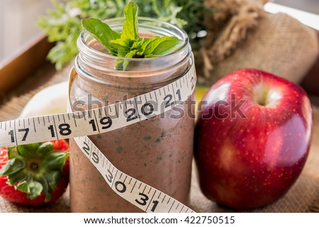 Chocolate meal replacement shake - stock photo