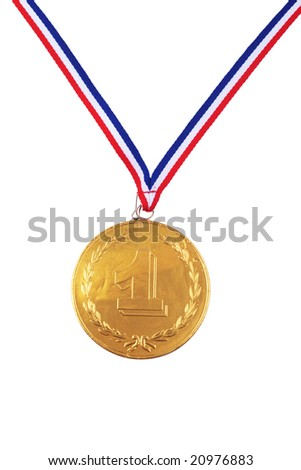 chocolate medal isolated on white