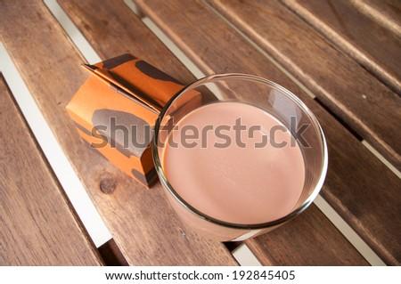 Chocolate milk - stock photo