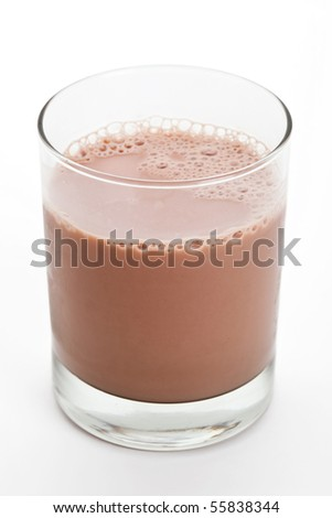 Chocolate Milk close up shot - stock photo