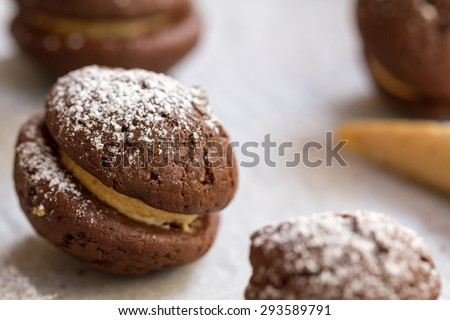 Chocolate Mini Pies - stock photo