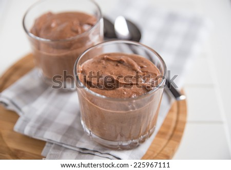 chocolate mousse  - stock photo