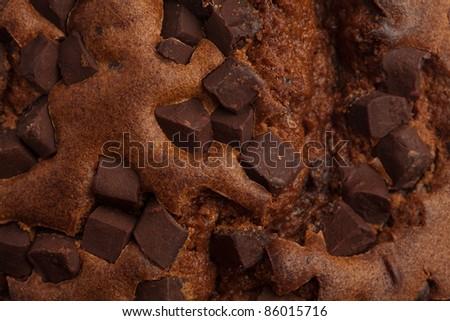 chocolate muffin texture - stock photo