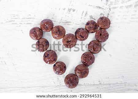 Chocolate muffins - stock photo