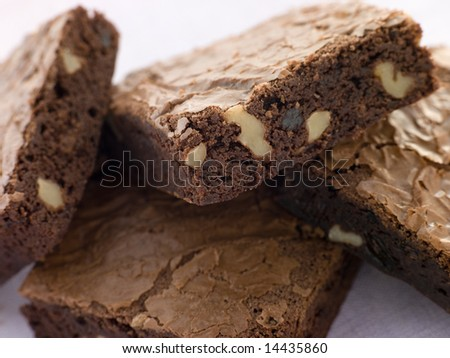 Chocolate Nut Brownies - stock photo