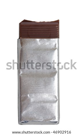 chocolate on a foil - stock photo