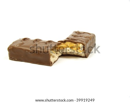 Chocolate on a white background - stock photo