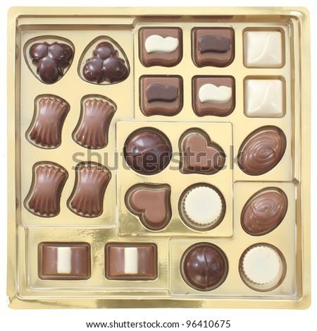 chocolate on white - stock photo