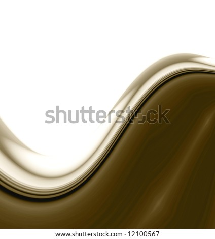 Chocolate Or Coffee With Cream Abstract Over White Copyspace